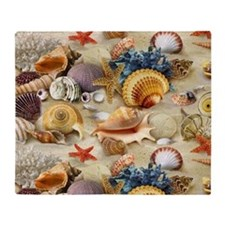 Sea Shells Throw Blanket
