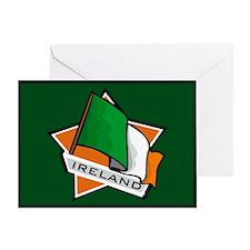 """Ireland Star Flag"" Greeting Card"
