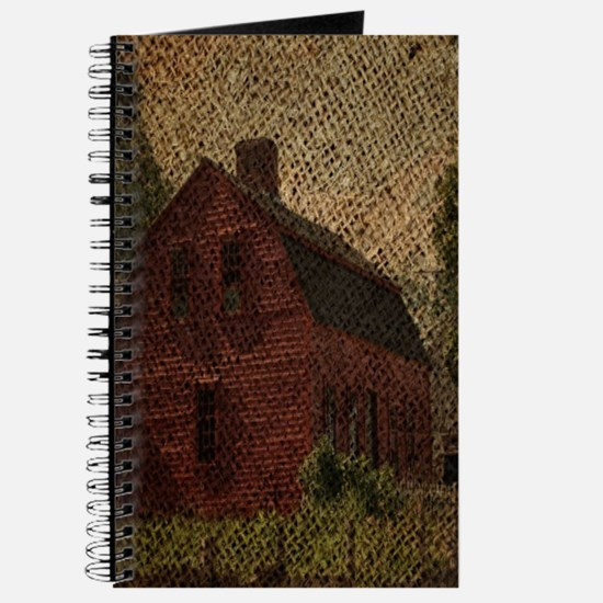 rustic burlap farm barn Journal
