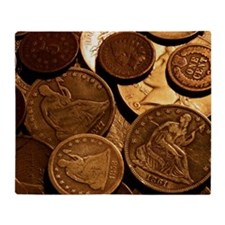 Old Coins Throw Blanket