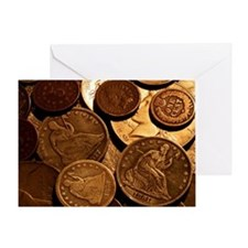 Old Coins Greeting Card