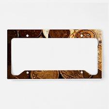 Old Coins License Plate Holder