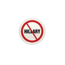 No Hillary Mini Button