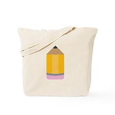 Yellow Pencil Tote Bag