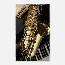Saxophone And Piano Area Rug