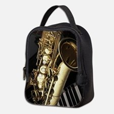 Saxophone And Piano Neoprene Lunch Bag