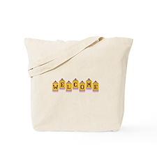 Welcome Pencil Border Tote Bag
