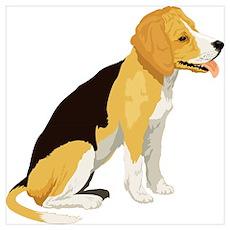 Cartoon Beagle Poster