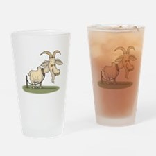 Cartoon Funny Old Goat Drinking Glass