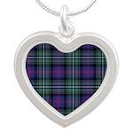 Tartan - Clerke of Ulva Silver Heart Necklace