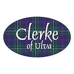 Tartan - Clerke of Ulva Sticker (Oval 10 pk)