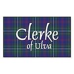 Tartan - Clerke of Ulva Sticker (Rectangle)