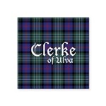 Tartan - Clerke of Ulva Square Sticker 3