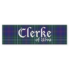 Tartan - Clerke of Ulva Bumper Sticker