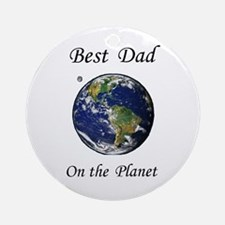 Best Dad on the Planet Astronomy Ornament (Round)
