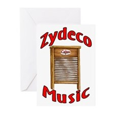 Zydeco Washboard Greeting Cards (Pk of 10)