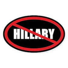 No Hillary Bumper Stickers