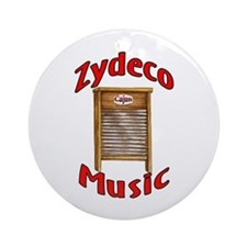 Zydeco Washboard Ornament (Round)