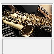 Saxophone And Piano Yard Sign