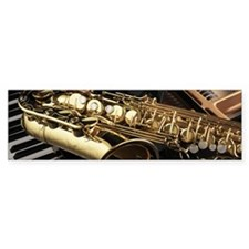 Saxophone And Piano Bumper Bumper Sticker