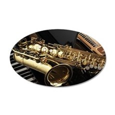 Saxophone And Piano Wall Decal