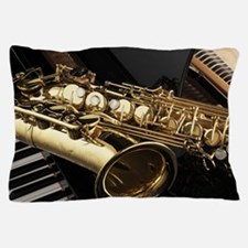 Saxophone And Piano Pillow Case