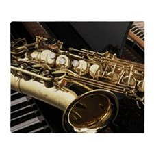 Saxophone And Piano Throw Blanket