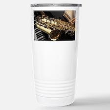 Saxophone And Piano Travel Mug