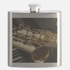 Saxophone And Piano Flask