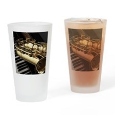 Saxophone And Piano Drinking Glass