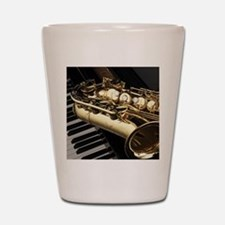 Saxophone And Piano Shot Glass