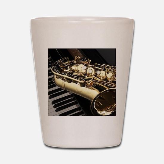 Saxophone And Piano Shot Glass
