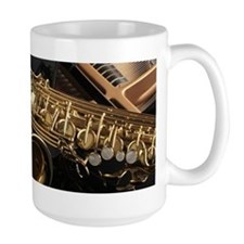 Saxophone And Piano Mugs