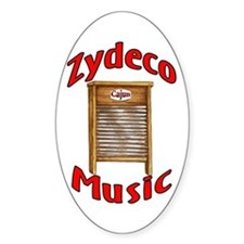 Zydeco Washboard Oval Decal