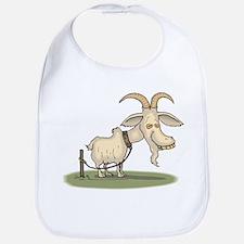 Cartoon Funny Old Goat Bib