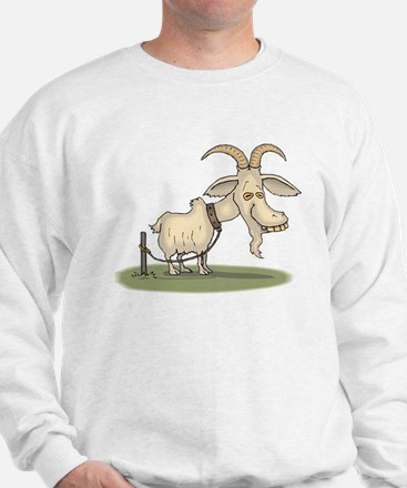 Cartoon Funny Old Goat Sweatshirt