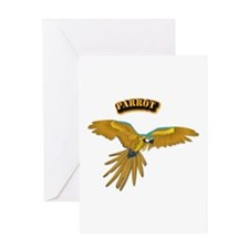 Parrot - 2 With Text Greeting Card