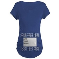 Custom Text And Image Maternity T-Shirt