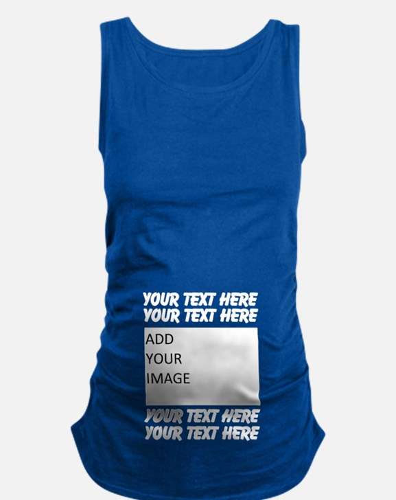 Custom Text And Image Maternity Tank Top