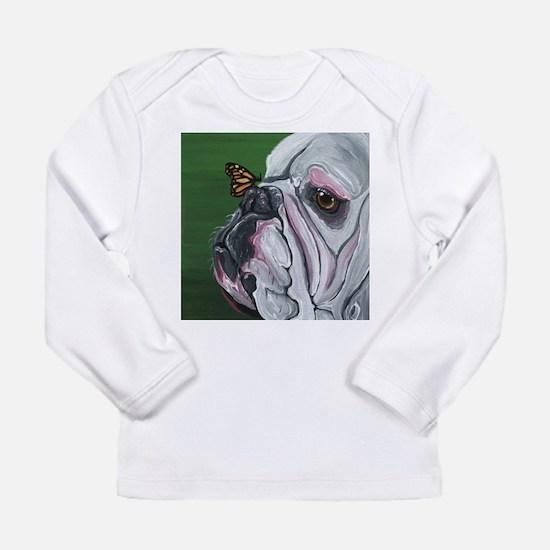 English Bulldog and Butterfly Long Sleeve T-Shirt