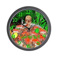 Hot Tub Skully Clock Wall Clock