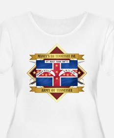 1st Tennessee Volunteer Infantry Plus Size T-Shirt
