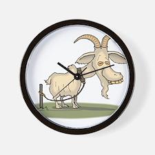 Cartoon Funny Old Goat Wall Clock