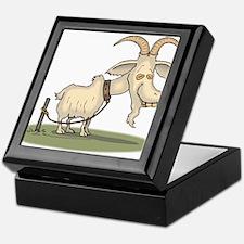 Cartoon Funny Old Goat Keepsake Box