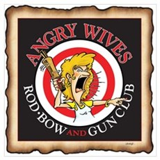 ANGRY WIVES ROD,BOWAND GUN CLUB Framed Print