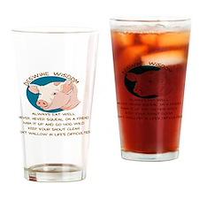 DESWINE WISDOM - ADVICE FROM THE PI Drinking Glass
