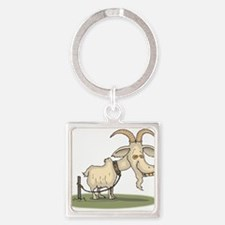 Cartoon Funny Old Goat Keychains