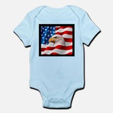 Bald Eagle On American Flag Body Suit