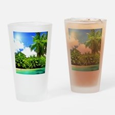 Tropical Paradise Drinking Glass