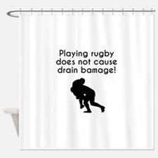 Drain Bamage Rugby Shower Curtain